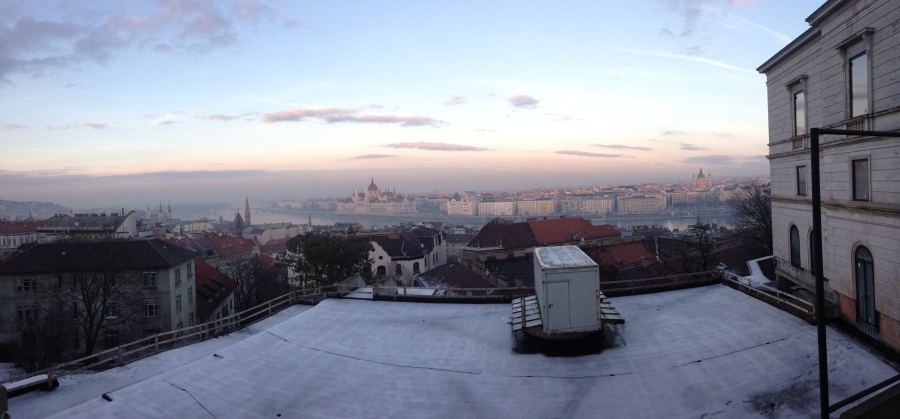 The view of Pest from the Buda Castle Hill.